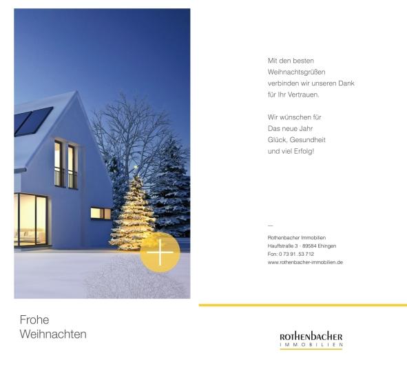 Weihnachtsgrüße Mieter.Neuigkeiten Rund Um Die Immobilie Aus Ehingen Rothenbacher Immobilien